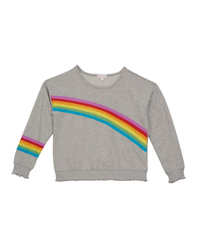 Girl's Rainbow Sweatshirt, Size S-XL