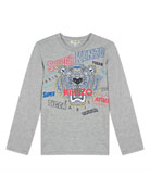 Kenzo Super Heroes Tiger Tee, Size 2-6