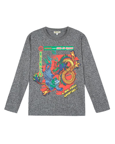 Japanese Dragon Graphic Tee, Size 2-6