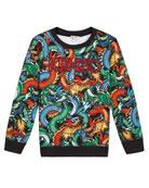 Kenzo Dragon Print Sweatshirt, Size 2-6 and Matching