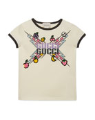 Gucci Gucci Game-Print Jersey Tee, Size 4-12