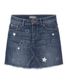 DL1961 Premium Denim Girl's Jenny Star Embroidered Denim
