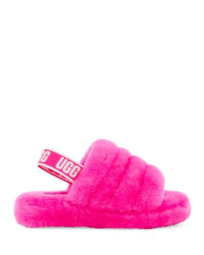Fluff Yeah Shearling Sandal Slippers, Kids