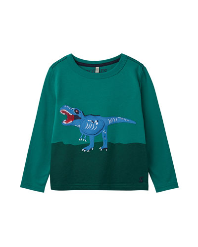 Boy's Chomp Colorblock Dinosaur Tee, Size 2-6