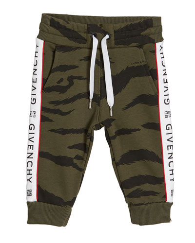 Boy's Camo Sweatpants w/ Logo Taping, Size 12M-3