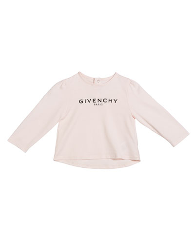 Girl's Long-Sleeve Logo Tee, Size 12M-3