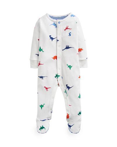 Ziggy Dino-Print Footie Pajamas, Size 0-12 Months