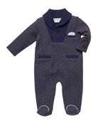 Miniclasix Shaw-Collar Footed Coverall, Size 3-9 Months