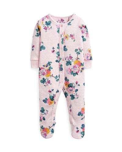 Razzmatazz Floral-Print Footie Pajamas, Size 0-12 Months