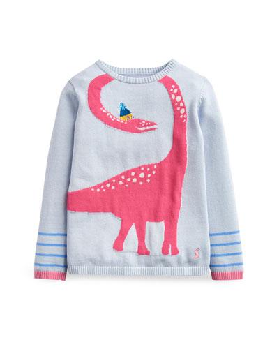 Bronty Dino Knit Sweater, Size 2-6
