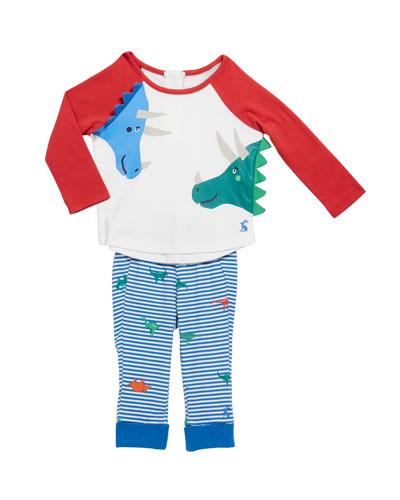 Boy's Mack Dinosaur Pajama Set, Size 3-24 Months