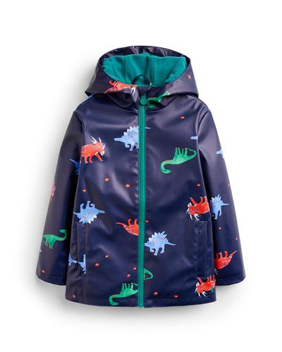 Skipper Waterproof Dino-Print Coat, Size 2-6