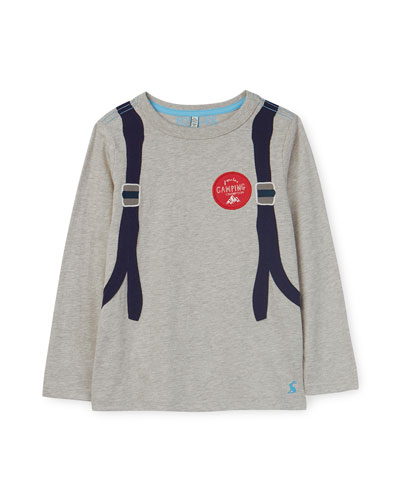 Animate Trompe l'oeil Backpack Long-Sleeve Tee, Size 2-6