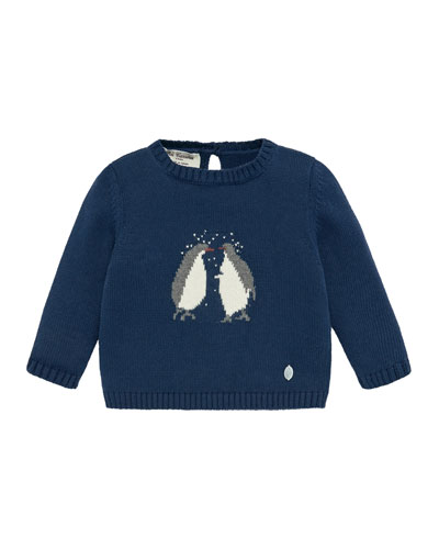 Penguins Intarsia Sweater, Size 12M-3