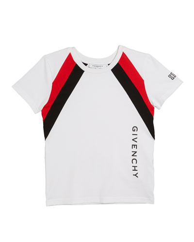Boy's Colorblock Logo Tee, Size 12-14