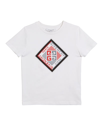 Boy's Short-Sleeve Logo Graphic Tee, Size 12-14