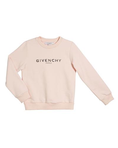 Girl's Logo Sweatshirt, Size 4-10