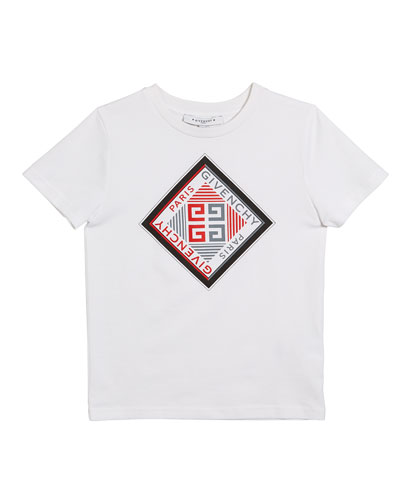 Boy's Short-Sleeve Logo Graphic Tee, Size 4-10