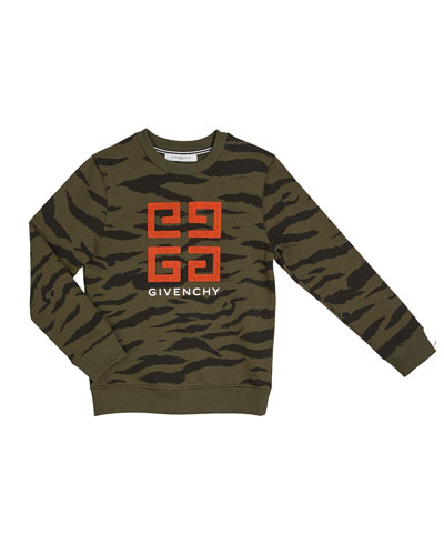 Boy's 4-G Logo Camo Sweatshirt, Size 4-10