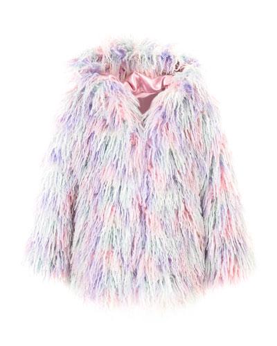 Faux Fur Hooded Coat, Size XXS-L