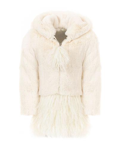 Kid's Luxe Faux-Fur Coat, Size XXS-L