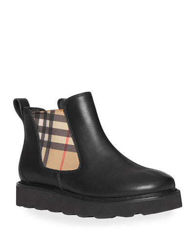 Hayden Check-Insert Chelsea Boots, Toddler/Kids