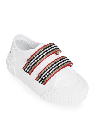 Ray Striped Grip-Strap Low-Top Sneakers, Toddler/Kids