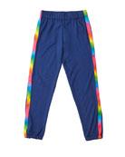 Flowers by Zoe Girl's Sweatpants w/ Rainbow Taping,