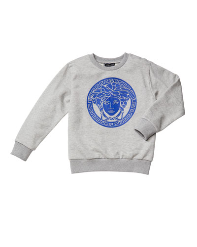 Boy's Medusa Logo Graphic Sweatshirt, Size 4-6