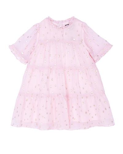 Girl's Melissa Tiered Dress, Size 3-24 Months