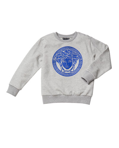 Boy's Medusa Logo Graphic Sweatshirt, Size 8-14