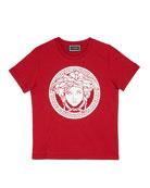 Versace Boy's Medusa Logo Cotton T-Shirt, Size 4-6