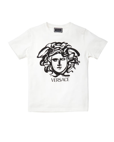 Boy's Short-Sleeve Medusa Logo Graphic Tee, Size 8-14