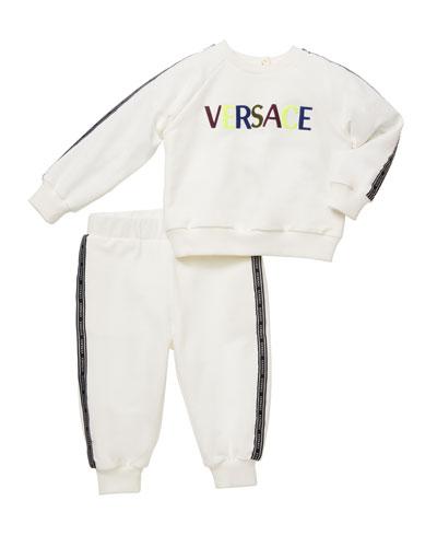 Boy's Logo Sweatshirt w/ Matching Sweatpants, Size 12M-3