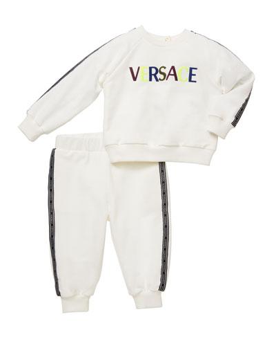 Boy's Logo Sweatshirt w/ Matching Sweatpants, Size 12M-3