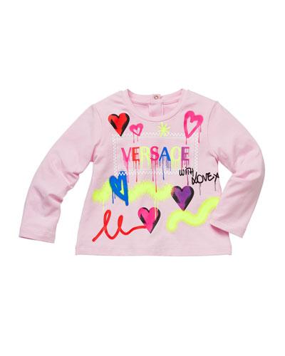 Girl's Graffiti Logo Print T-Shirt, Size 12M-3