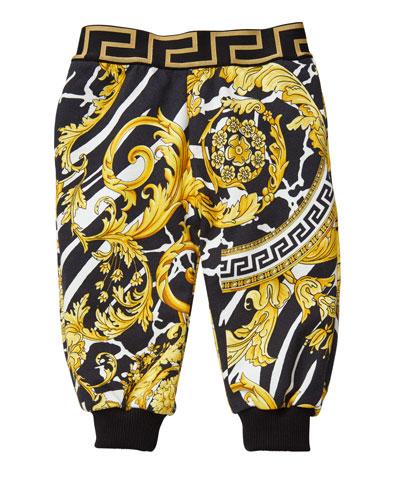 Boy's Barocco Print Sweatpants, Size 12M-3