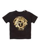 Versace Boy's Short-Sleeve Medusa Logo Tee, Size 12M-3