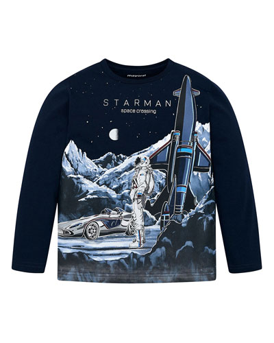 Boy's Glow in the Dark Star Man Tee, Size 4-8