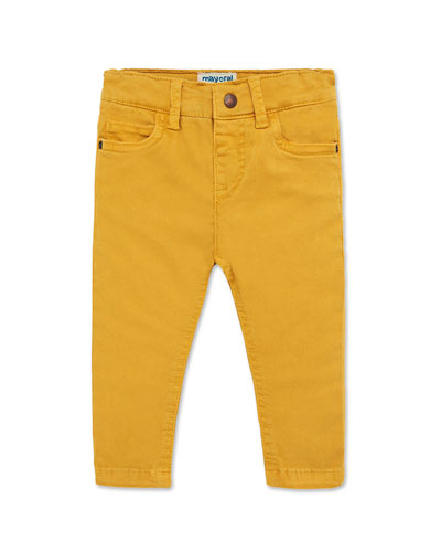 Boy's Colored Straight Leg Pants, Size 12-36 Months