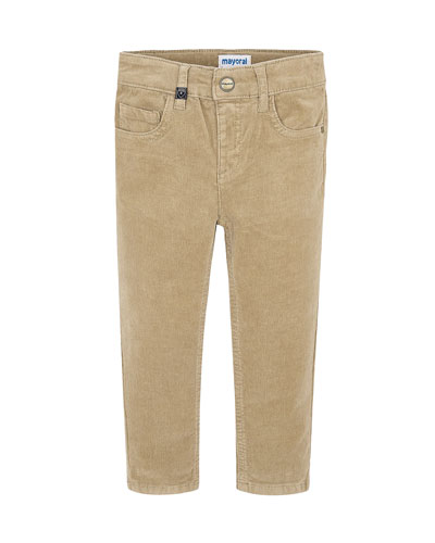 Boy's Slim Fit Corduroy Pants, Size 4-8
