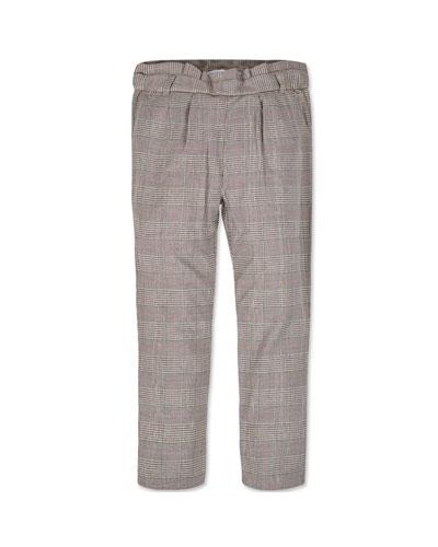 Girl's Straight Leg Plaid Pants, Size 8-16