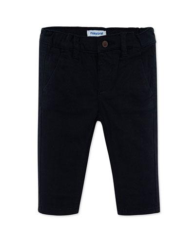 Boy's Basic Straight Leg Pants, Size 12-36 Months