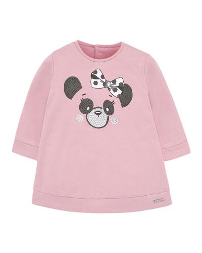 Girl's Plush Panda Dress, Size 6-36 Months