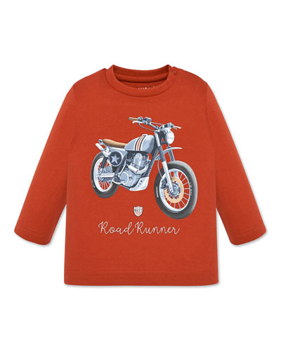 Boy's Roadrunner Motorcycle Tee, Size 12-36 Months