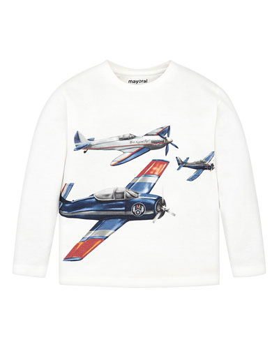 Boy's Airplanes Graphic Tee, Size 4-8