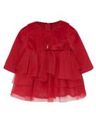 Mayoral Girl's Tulle & Velvet Long-Sleeve Dress, Size