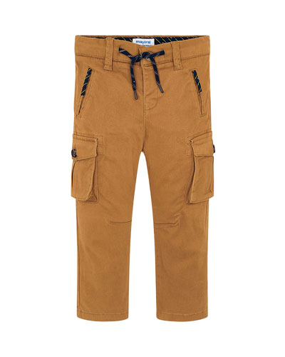 Boy's Chino Cargo Pants, Size 4-8