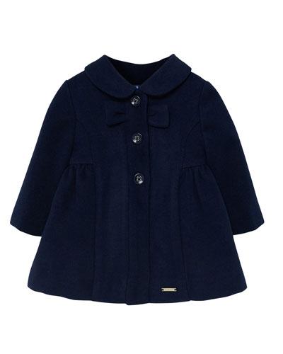 Girl's Peter Pan Collar Dress Coat, Size 6-36 Months