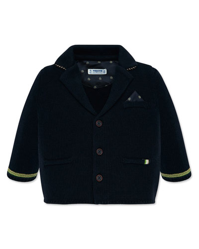 Boy's Knit Button Front Jacket, Size 12-36 Months